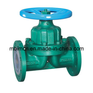 Teflon Lined Industial Weir Diaphragm Valve (G41) pictures & photos