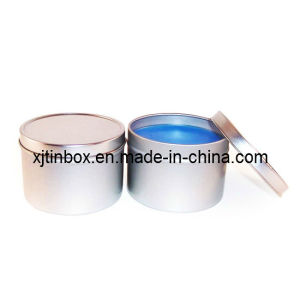 Round Candle Tin Box, Candle Tin Box in 2 PCS Tin, Candle Tin, Metal Candle Can, Candle Box, Tin Candle Box (XJ-004Y)