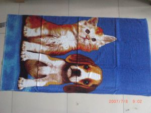 Customized Full-Color Velour Reactive Printed Beach Towels Cu-405