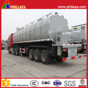 3-Axle Pitch Asphalt Tanker Semi Trailer for Asphaltum Transport pictures & photos