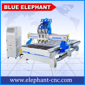 1340 Pneumatic System Multi Spindle Head CNC Cutting Machine Design for Wooden Door Chair Cabinet pictures & photos