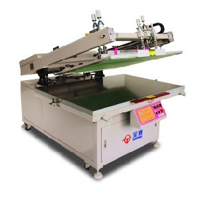 High Precision Clam Shell Flatbed Screen Printing Machine