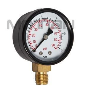 2 Inch Iron Glass Surface Case Pressure Gauge with Safety Requirement