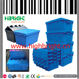 Large Stackable and Nestable Plastic Storage Crate Box pictures & photos