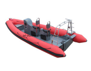 China Aqualand 19feet 5.8m Rib Military Rescue Boat/Rigid Inflatable Boat (rib580t) pictures & photos