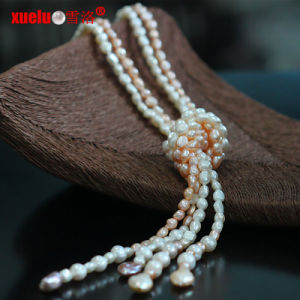 Fashion Jewelry Natural Fresh Water Baroque Pearl Long Necklace Design pictures & photos