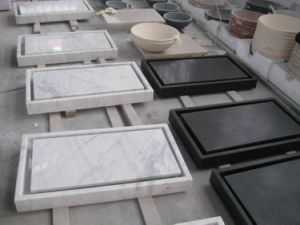 White Marble Sinks, Black Basin, pictures & photos