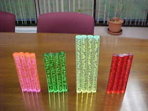 Color Plastic Acrylic Panel Bubble Rod