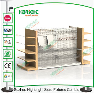 Peforated Super Market Metal Display Shelf Shop Shelving Racks pictures & photos