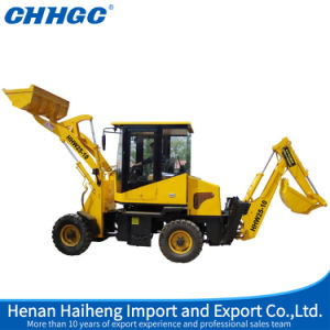 1t Loading Capacity 0.25m3 Bucket 28HP Backhoe Loader for Sale pictures & photos