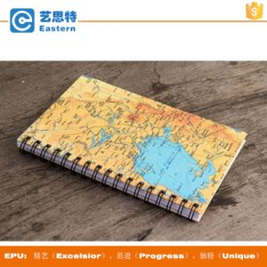 A4 Size World Map Cover Paper Notebook pictures & photos