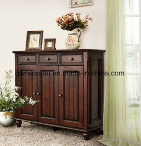Custom American Country Multifunctional Shoe Ark Real Wood Door Shoe Ark Receive a Locker The Sitting Room Porch Porch Ark (M-X3560) pictures & photos