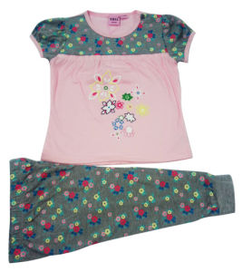 Summer Baby Girl Kids Suit in Children Clothes pictures & photos
