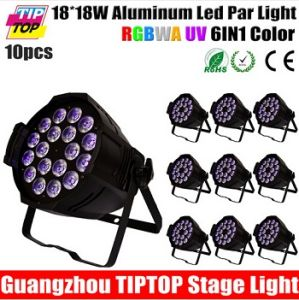 DJ PAR Cans RGBWA UV 6in1 18*18W LED PAR Light Indoor Usage LED PAR Cans