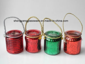 Portable Colorful Electroplate Glass Candle Holders for Home Decoration pictures & photos