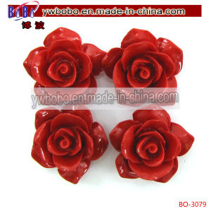 Synthetic Coral Carved Rose Flower Pendant Garment Accessory (BO-3079) pictures & photos