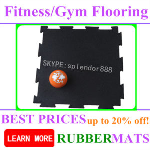 Colorful Fastness Heavy Duty Fitness Center Interlock Rubber Mat pictures & photos