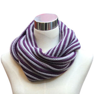 Lady Fashion Wool Acrylic Knitted Infinity Scarf (YKY4332) pictures & photos