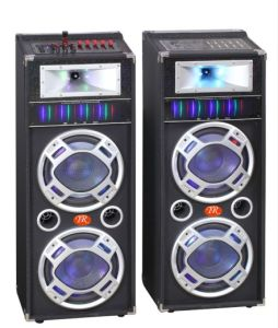Rechargeable Battery DJ Speaker Box with USB/SD Bluetooth Wireless Microphones (MV-200) pictures & photos