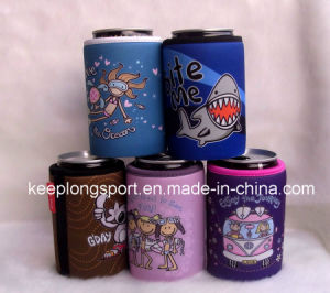 Fashionable Insulated Neoprene Glued Bottom Can Cooler, Neoprene Bottle&Can Cooler pictures & photos