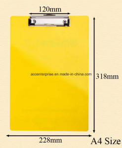 A4, A5, A6, FC Writing Pad with Metal Clip pictures & photos