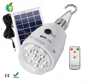 B22 E27 Solar Charger Remote Control Emergency Light with USB Port Camping Bulbs pictures & photos