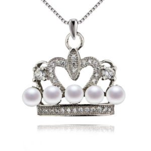 Crown Shape Cute Fashion Jewelry Natural Pearl Pendant