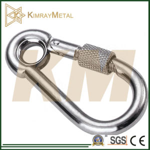 Zinc Plated Snap Hook with Eyelet and Screw pictures & photos