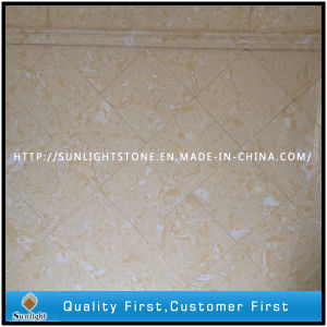 Yellow Engineered Artificial Stone Marble for Wall and Flooring pictures & photos
