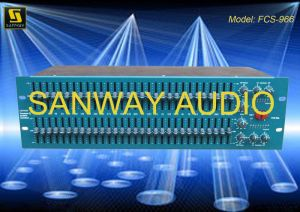 Professional Dual 30-Band Graphic Equalizer Audio (FCS 966) pictures & photos