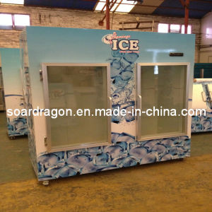 Glass Door Ice Freezer Merchandiser for Indoor & Outdoor Use pictures & photos