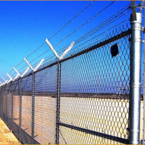 Chain Link Wire Mesh Fence with Razor Barbed pictures & photos