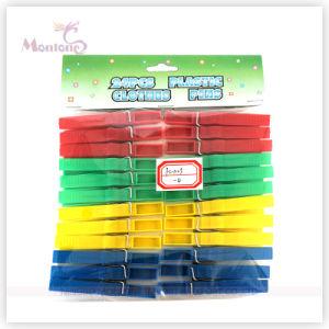 24PCS Plastic Clothes Pegs (4colors assorted) pictures & photos