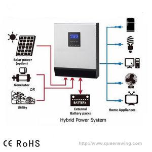 2kVA Inbuilt PWM 50A Controller off Grid Hybrid Solar System Inverter pictures & photos