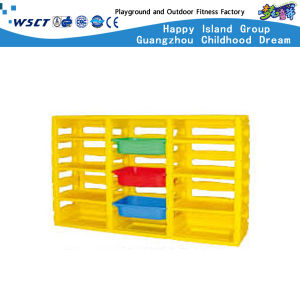 High Quality Children Furniture Preschool Plastic Storage for Sale (HB-04002) pictures & photos