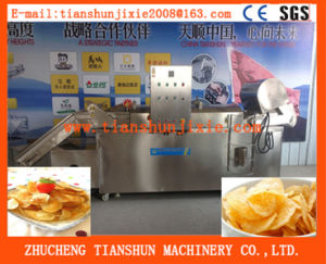 High Production Automatic Continuous Fryer Tszd-80 pictures & photos