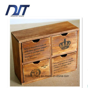 Pure Wood Hand-Made Four Case Drawer Storage Wood Case pictures & photos