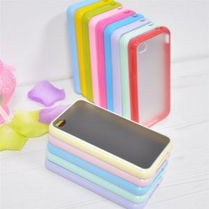 New Style PC Bumper+ TPU Case Cover for iPhone4/4s Double Color Case