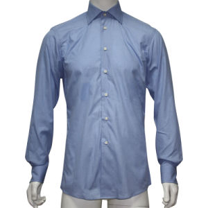 Man′s Dress Shirt in Solid Color HD0011