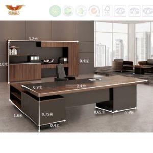 Fsc Forest Certified Approved by SGS Wholesale Wooden Office Furniture Elegant Design Executive Desk pictures & photos