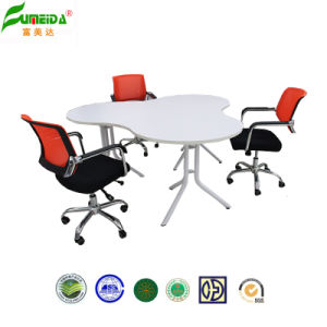 2014 Modern Style MFC Round Office Table with Metal Leg pictures & photos