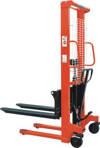 Narrow Leg Manual Stacker (Adjustable Forks)
