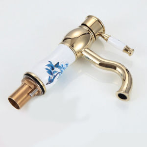 Fancy Bathroom Faucet Brass Wash Basin Ceramic Valve Water Mixer pictures & photos
