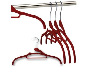 Clever Design/Smart/ Felt/Soft Grip Flocked Hanger for Closet Usage