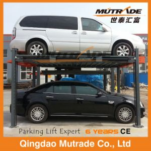 3ton Four Post Two Car Simple Smart Hydraulic Car Parking Lift pictures & photos