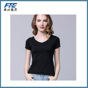 High Quality Cotton T-Shirt with Custom Logo Printed pictures & photos
