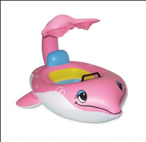 Inflatable Float,Pink Dolphin Baby Pool Float (FG-IF-002)