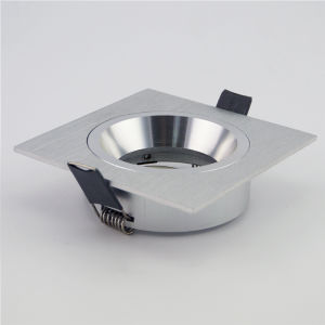 Lathe Aluminum GU10 MR16 Square Fixed Recessed LED Downlight (LT2109) pictures & photos