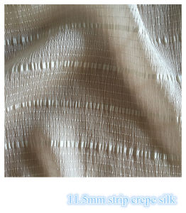 Strip Crepe Silk Fabric for Girl′s Dresses pictures & photos