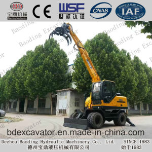 Baoding Construction Machinery Small Wheel Excavators with Weichai Engine pictures & photos